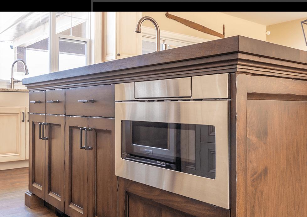 custom rustic cabinets