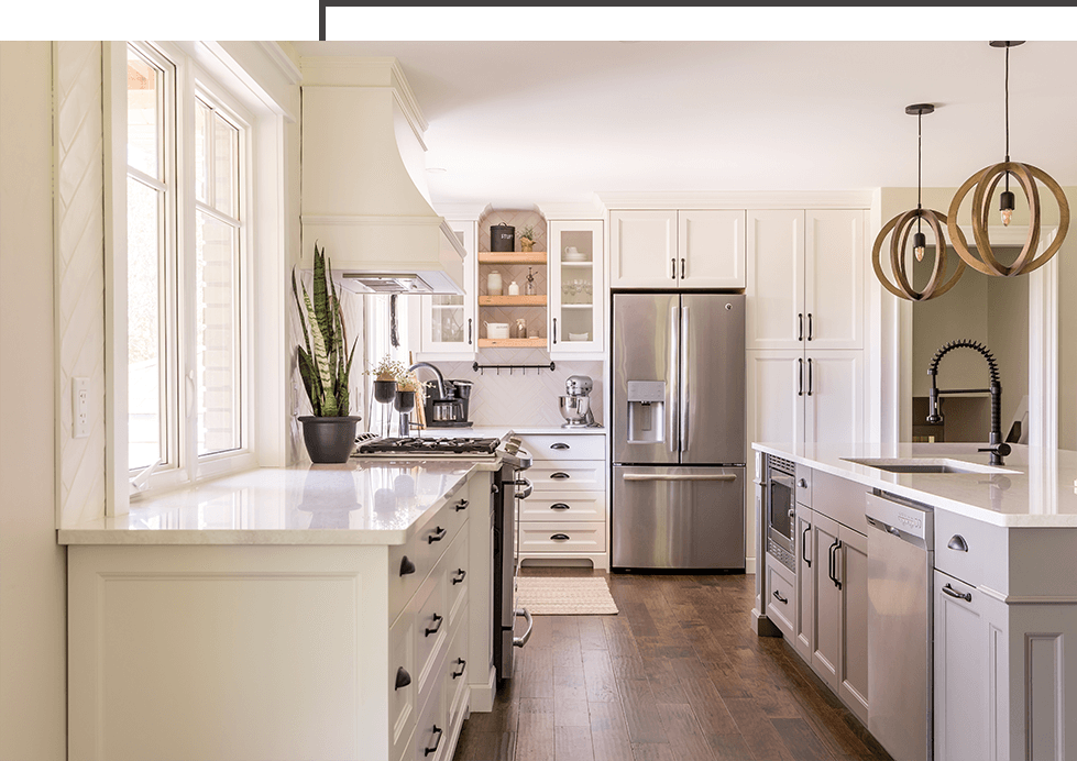 custom kitchen cabinets with natural lighting