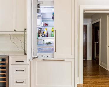 custom built in refrigerator